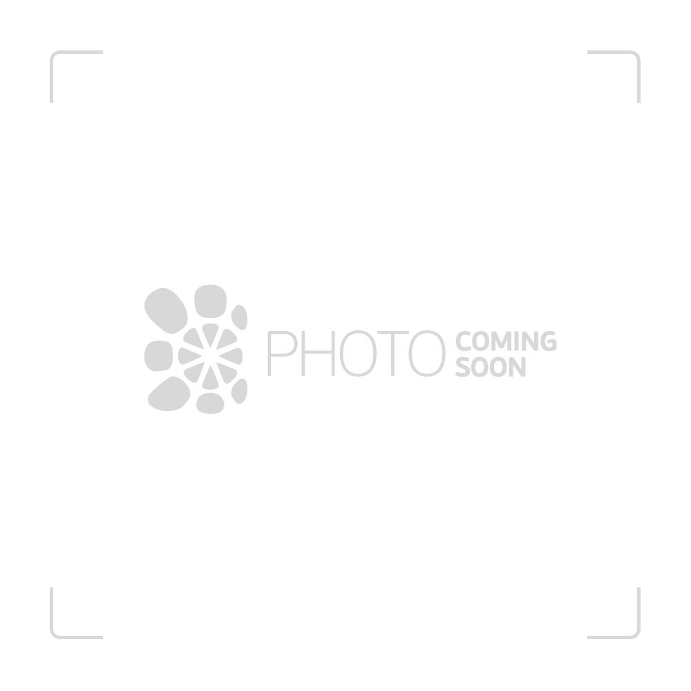 Black Leaf Curvy Glass Dab Rig with Showerhead Perc   Black - Side View 1